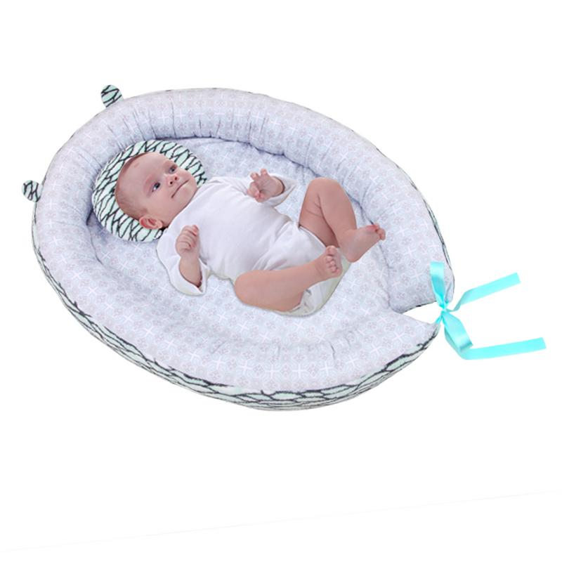 Portable Baby Nest Bed Cotton Cradle Print Baby Bassinet Bumper Folding Sleeper For Newborn Travel Bed For Baby Care