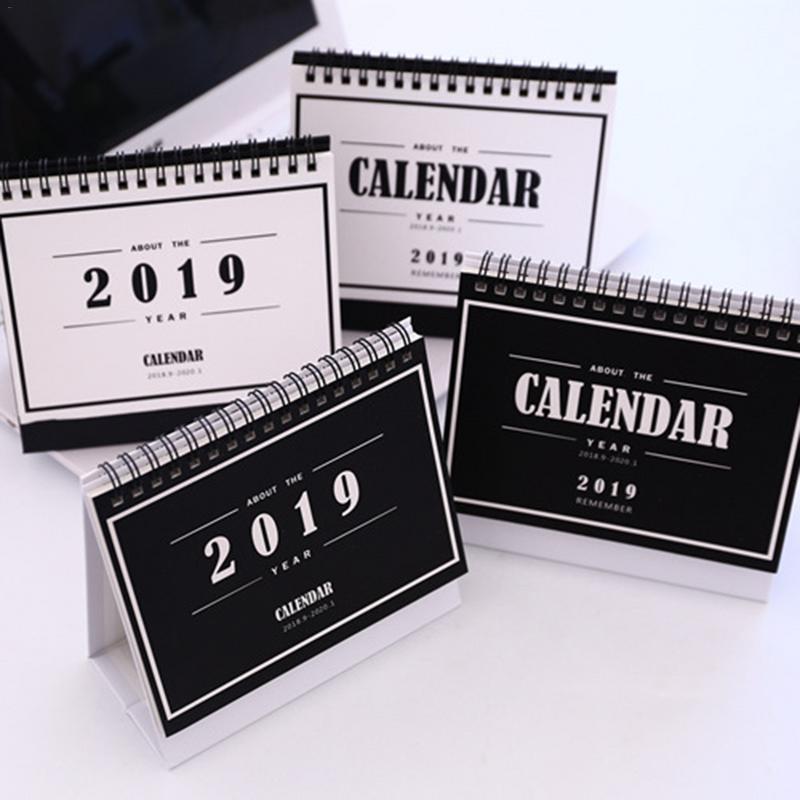 Advent Calendars Have An Inquiring Mind 2019 New Simplicity Cartoon Calendar 15.5*18.3cm Creative Desk Vertical Paper Multi-function Storage Box Timetable Plan Notebook Christmas