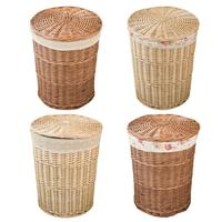 Hand knitted Wicker Laundry Hamper Storage Basket With Lid Rattan Dirty Clothes Basket Laundry Bag Storage Living Room Toy Sund