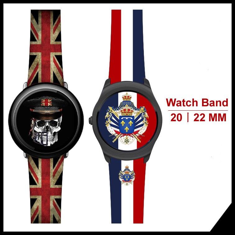 Pour Huami Amazfit 1 2 Véritable En Cuir Drapeau Style bracelet de montre Pour Samsung Vitesse S3 Vitesse Sport S2 Classique Pour montre huawei 2Pro