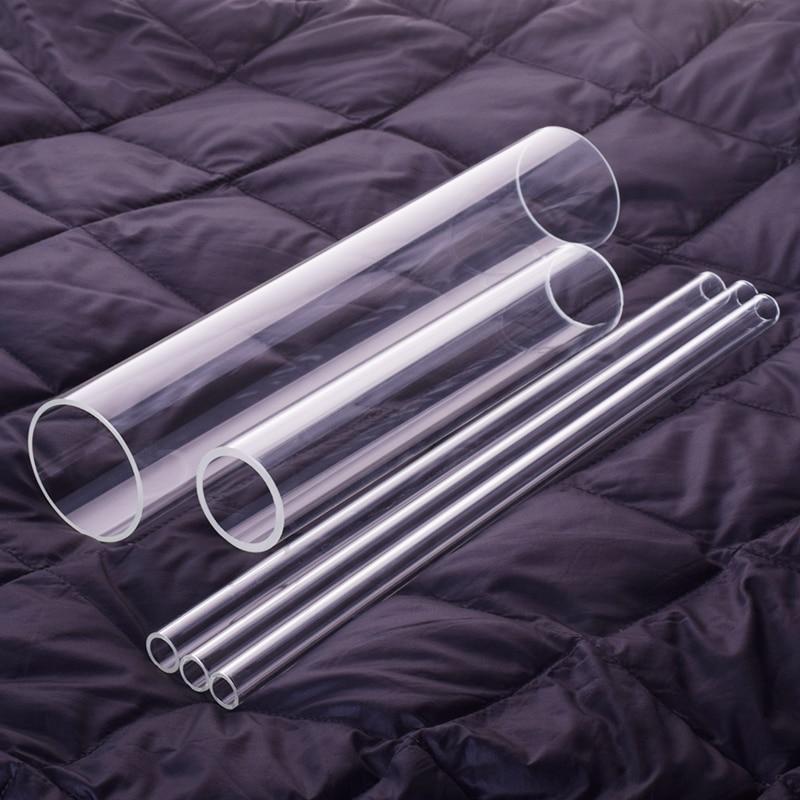 2pcs High Borosilicate Glass Tube,O.D. 90mm,Thk. 3mm/5mm,L. 1430mm,High Temperature Resistant Glass Tube