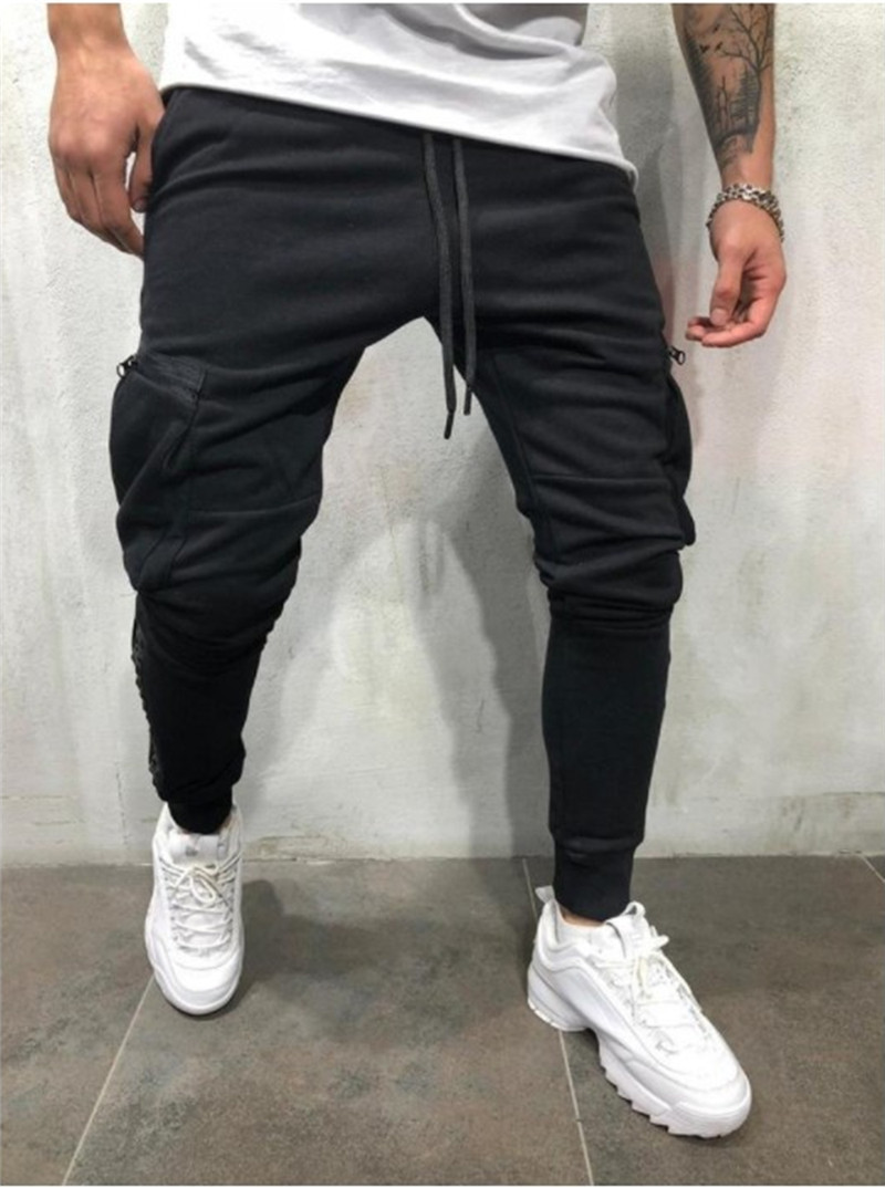 Mens Gym Slim Fit Trousers Bottoms Skinny Joggers Pants