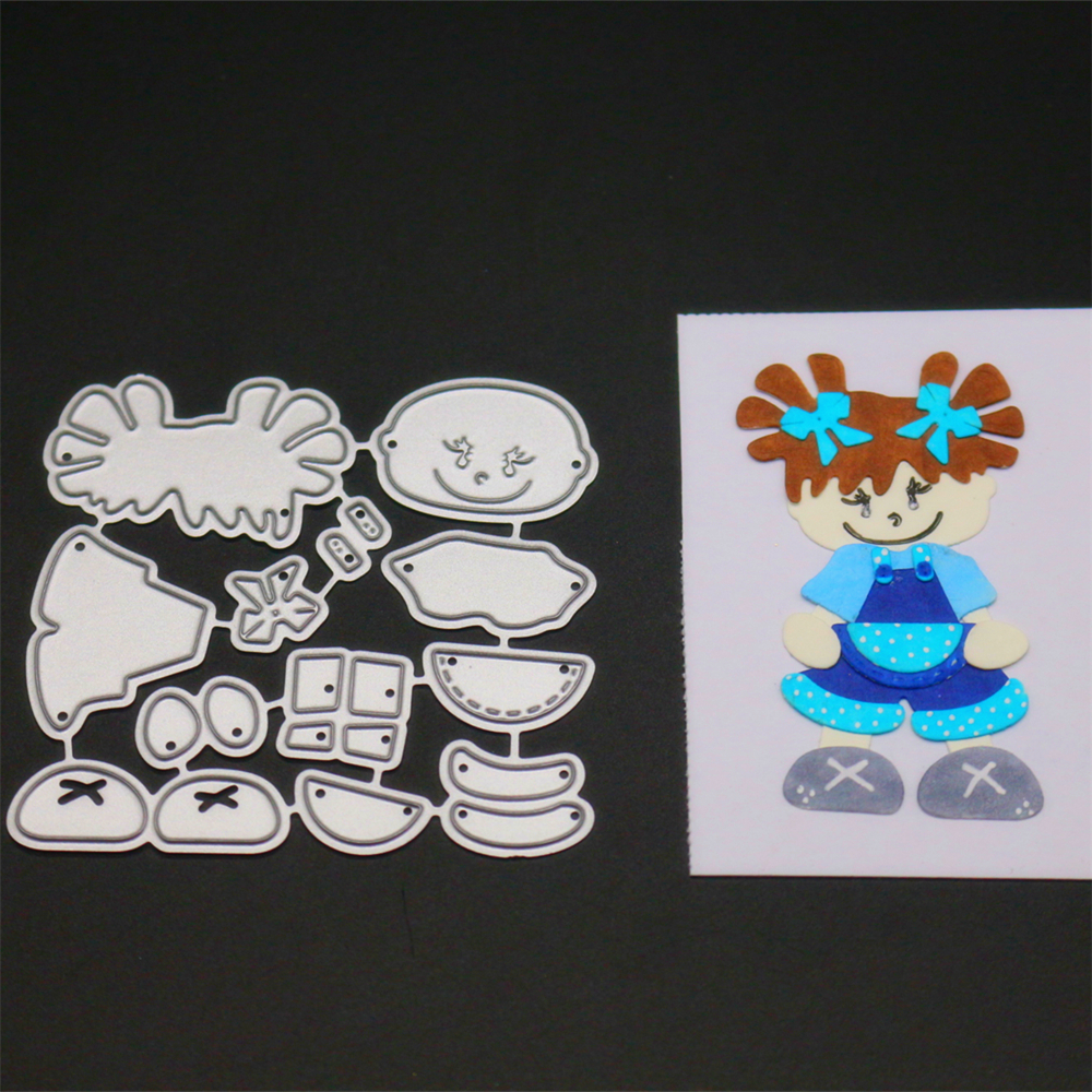 YINISE108 GIRL CUT SCRAPBOOK Metal Cutting Dies For Scrapbooking Stencils DIY Album Cards Decoration Embossing Folder Die Cuts in Cutting Dies from Home Garden