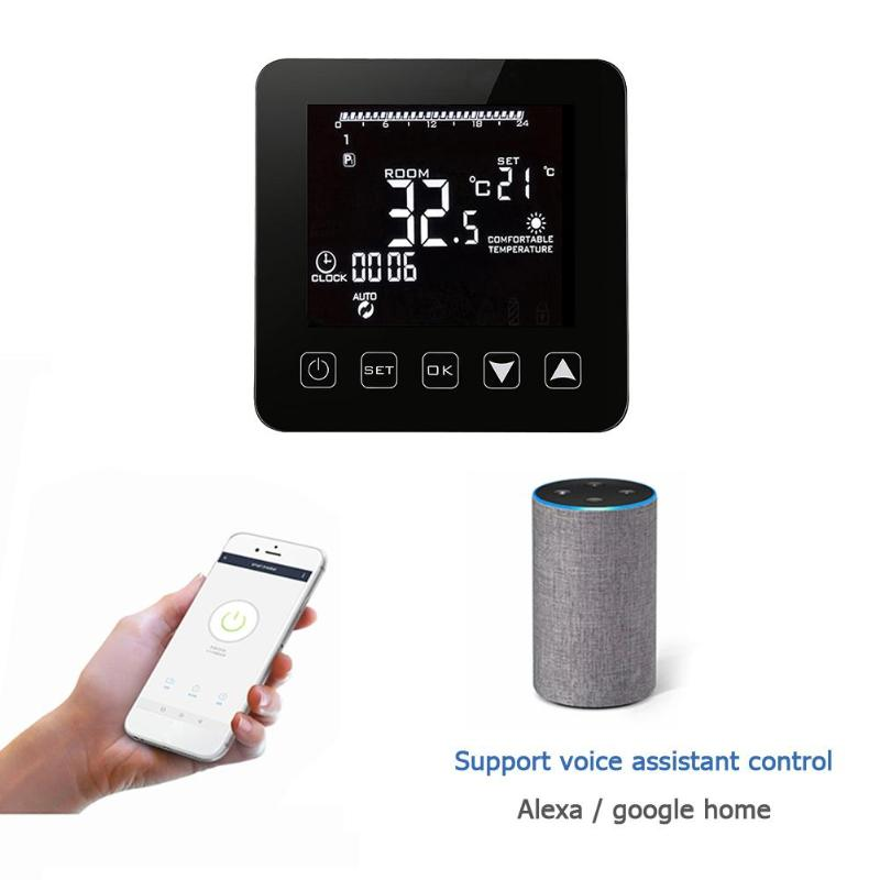 Universal WiFi Thermostat for Gas Boiler Temperature Controller Alexa Google Home Control Thermoregulator for Warm Room eu radiator thermostat wifi boiler dry contac linkage controller for underfloor warm system