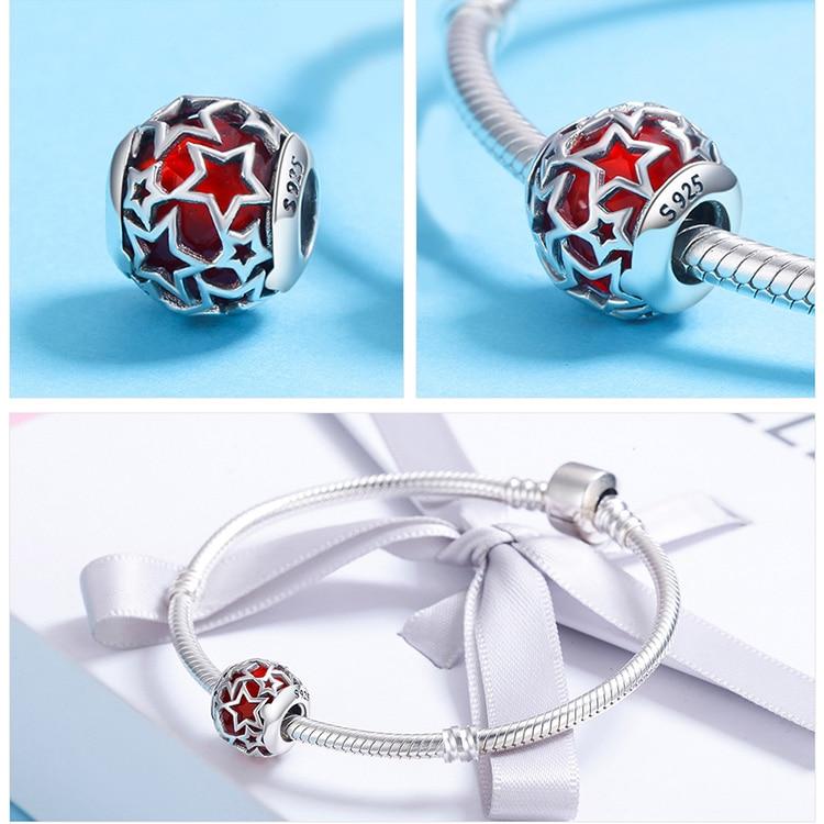 BAMOER 925 Sterling Sølv Radiant Hjerter, Himmelblå Crystal & Clear - Mode smykker - Foto 4