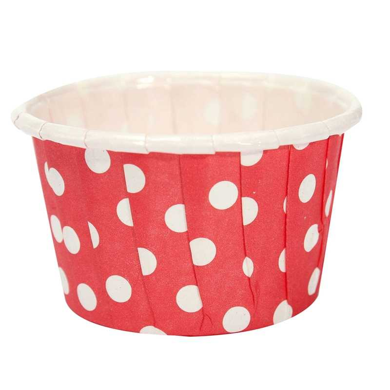 20pcs Paper Cupcake Wrapper Liner Paper Cake Muffin Case Dessert Baking Cups Red