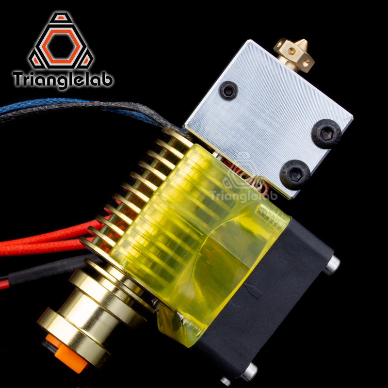 highquality v6 Volcano hotend GOLD heatersink 12V/24V remote Bowen print J-head and cooling fan bracket for E3D HOTEND for PT100