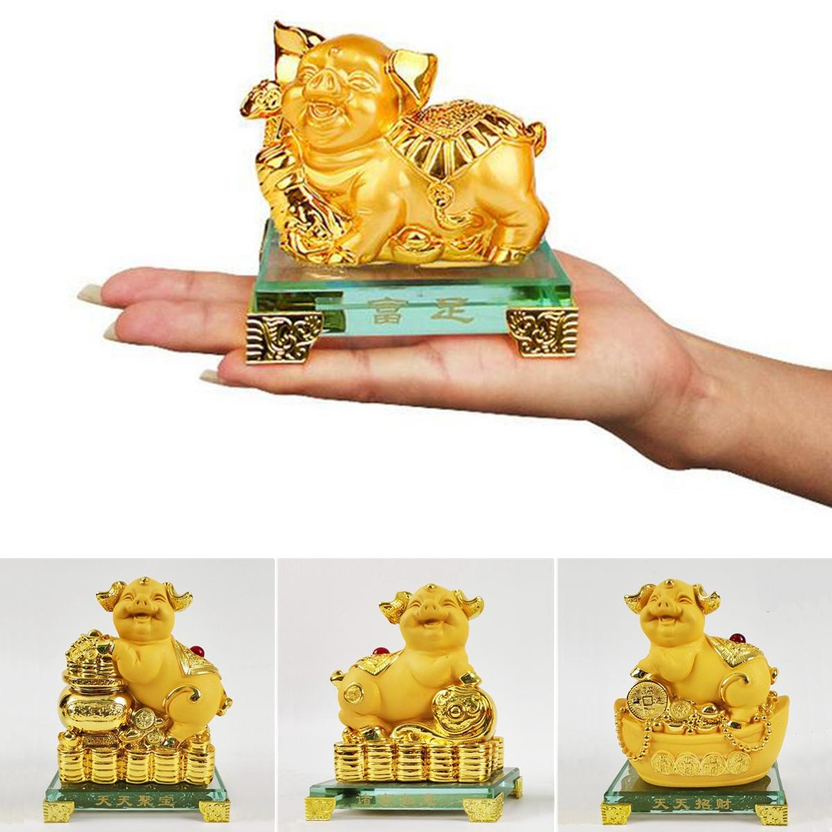 2019 Year Chinese Treasure Lucky Money Wealth Pig Statue