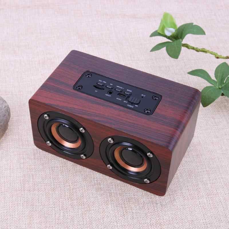 Portable HiFi Wireless Bluetooth Speaker Dual Speakers Shock Bass Music Player Support TF Card AUX Cable
