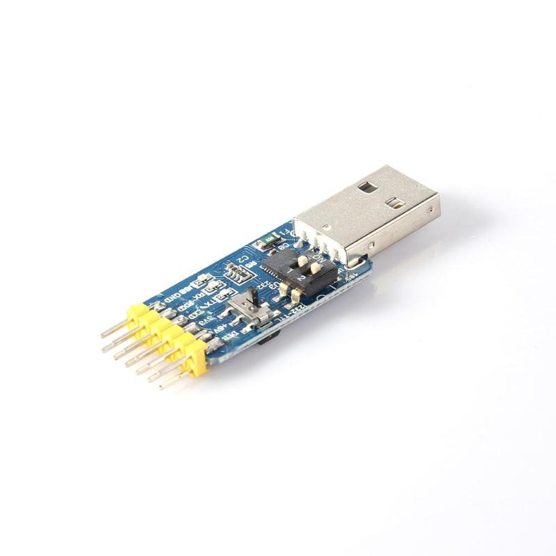 6 in 1 CP2102 USB to TTL 485 232 Serial Port 3.3V/5V Converter Six Multifunction Serial Module 3.5*1.8CM Module Board image
