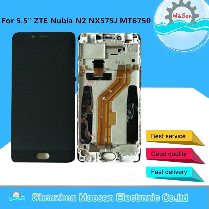 D'origine M & Sen Pour 5.5 ZTE Nubia N2 NX575J MT6750 LCD Écran Affichage + Écran Tactile Digitizer Cadre pour ZTE Nubia N2 Lcd Affichage