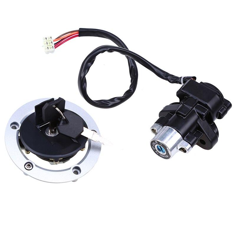 Accessoires moto clé de verrouillage interrupteur d'allumage + bouchon de gaz de carburant + serrure de siège + clé pour Suzuki SV650 2003-2004 SV650S 2005-2008