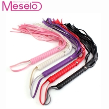 45cm Length PU Leather Flogger Whip Sex Spanking Paddle Handle Toys For Couple Erotic Adult Game Products Sexy Whip Flirting Toy
