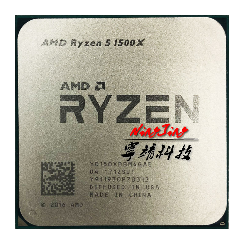 AMD Ryzen 5 1500X R5 1500X 3,5 ГГц четырехъядерный Восьмиядерный ЦПУ процессор L3 = 16M 65 Вт YD150XBBM4GAE Socket AM4