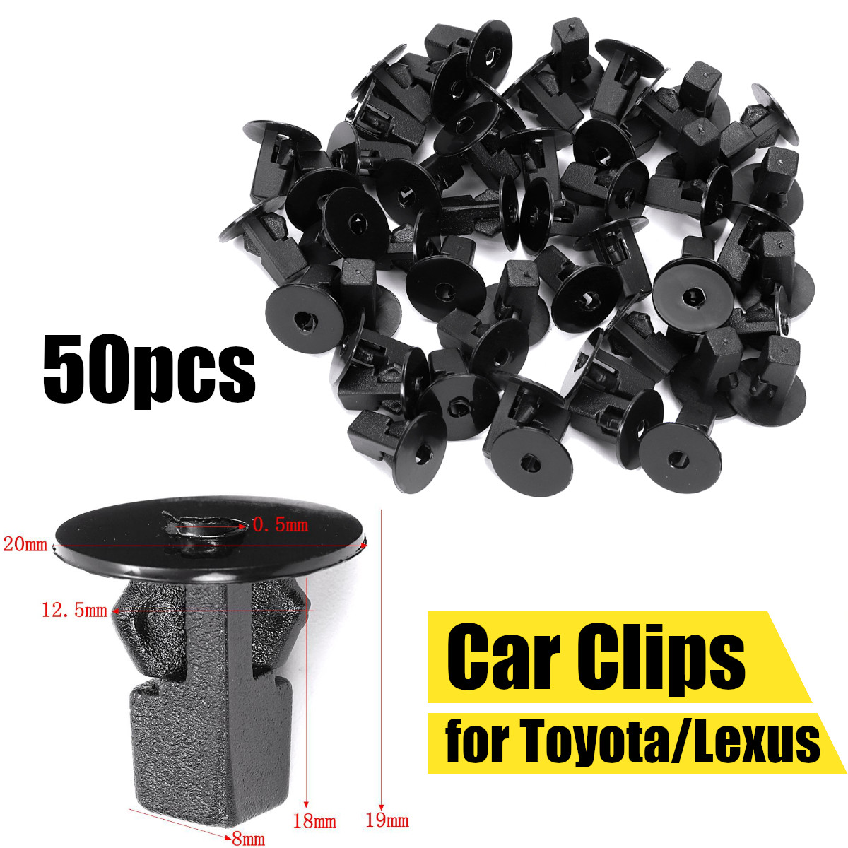 100pcs Trim Panel Interior Rear Sill Plate Clips Retainer Fastener for Ford E150