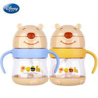 Disney cartoon portable water cup leak proof smash proof drinking cup Pooh bear Safe odorless infant TRITAN bottle sippy cup
