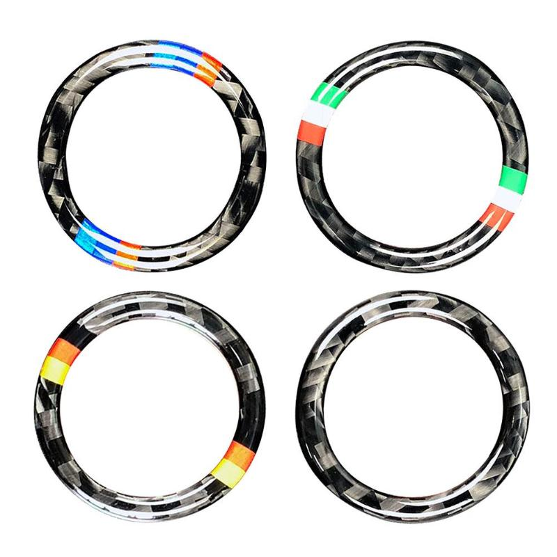 VODOOL 32.5mm OD Carbon Fiber Car Engine Start Stop Button Ring Trim Auto Car Starting Button Decoration For BMW E90 E92 E93-in Interior Mouldings from Automobiles & Motorcycles