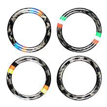VODOOL 32,5mm OD fibra de carbono coche botón de arranque y parada de motor anillo embellecedor Auto botón de arranque decoración para BMW E90 E92 E93