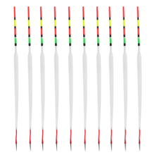 10pcs Plastic Fishing Sliding Floats Drift Tube Long Float Slips Indicator with Great Buoyancy