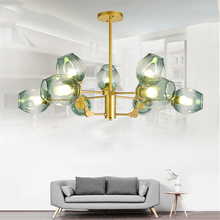 Modern Glass LED Chandeliers Molecular Magic Bean Glass Ball Lamp Branch Pendant Lamps Hanging Lamp Dining Room Kitchen Lamps postmodern magic bean lamps pendant light nordic modern brief dna lamp creative iron glass hanging lamp glass ball lustre mudou