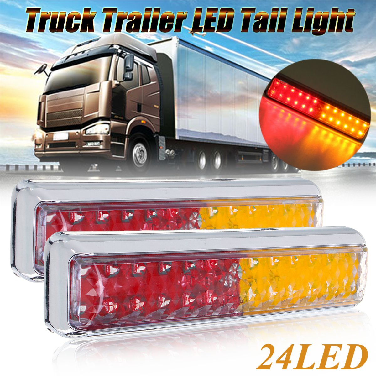 Commercial Vehicle Parts 4x LED Front Marker Light 12V 24V MAN Position Lamp Truck Trailer 12 24 Volt Vehicle Parts & Accessories