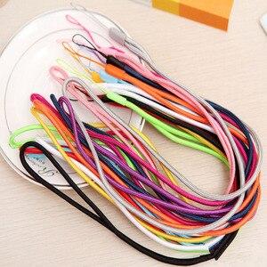 Image 1 - 50 100PCS ארוך ניילון שרוך תליית רצועת טלפון נייד Datachable צוואר רצועות גמיש קלע שרשרת חבל