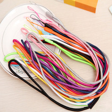 50 100PCS long Nylon Lanyard Cell Phone Hanging Strap Mobile Phone Datachable Neck Straps Flexible Sling Necklace Rope