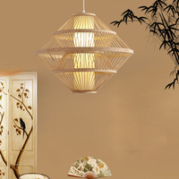 SETTEMBRE Fashion Wood Lamp Bamboo Lantern Led Light Fabric Shade for Dinning and Living Room Nordico Decoracion Hogar