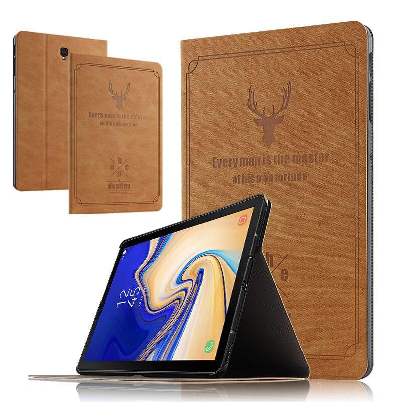 Ультратонкий чехол подставка из искусственной кожи для Samsung Galaxy Tab S4 10,5, защитный чехол для планшетных ПК с подставкой, чехол накладка на Планшетные ПК с диагональю 1, 5, 5, 5, 4, 5, 5, 4, 5, 5, 5, 9, 9, 9, 9, 9, 9, 9, 9, 9 Чехлы для планшетов и электронных книг      АлиЭкспресс
