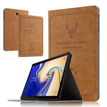 Ультратонкий чехол-подставка из искусственной кожи для Samsung Galaxy Tab S4 10,5, защитный чехол для планшетных ПК с подставкой, чехол-накладка на Пла...