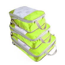 QIUYIN Travel Accessories 3PCs/Set Travel Bag For Clothes Functional Luggage Organizer High Capacity Mesh Packing Cubes - DISCOUNT ITEM  42% OFF Luggage & Bags