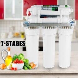 7-Etapa de sistema de filtro de agua potable sistema de ultrafiltración casa cocina purificador de agua filtros de agua con grifo válvula de la tubería de agua