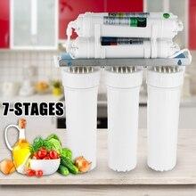 7 стадии фильтр для воды Системы питьевой обратного осмоса Системы RO дома Кухня очиститель фильтры для воды с кран воды трубы