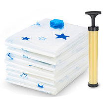 11pcs/set Thickened Vacuum Storage Bag Vacuum Compressed Bag with Hand Pump Reusable Blanket Clothes Quilt Storage Bag Organiz(China)
