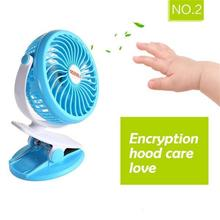 Mini USB Ventilator Portable Fan Battery Operated Clip on Mini Desk Fan Rechargeable 5V Personal Air Cooler 360 Degree Rotation