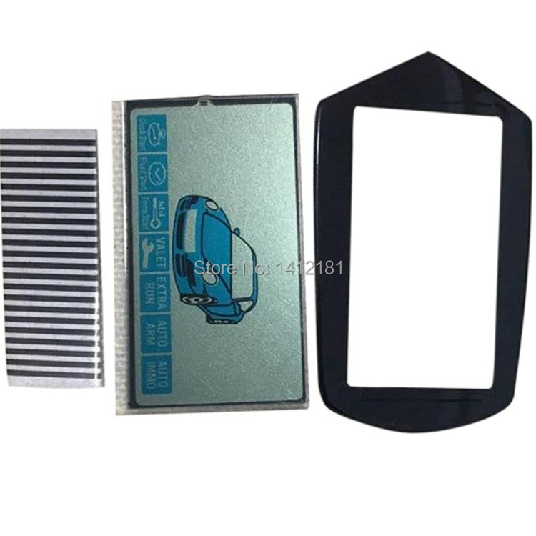 Wholesale B9 LCD Display Flexible Cable+ LCD Keychain Glass Cover For Starline B9 Lcd Remote Control Key Chain + Zebra Stripes