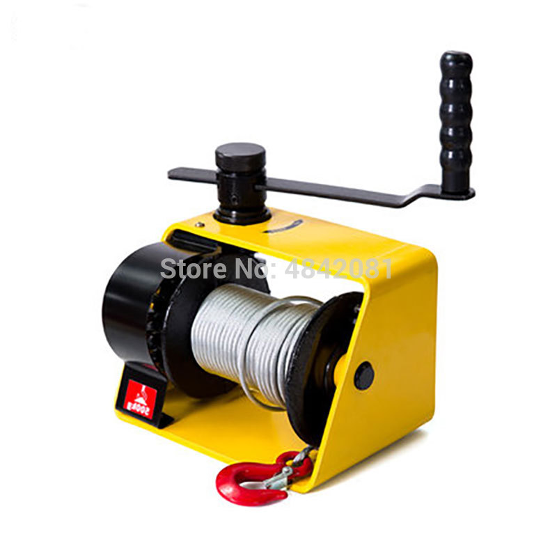 250kg/500kg/1Ton/2Ton Manual Winch Boat Truck Auto Self-locking Hand Manual Galvanized Steel Winch Hand Tool Lifting Sling