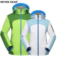 Refire Gear Outdoor Women's Hiking Jackets Waterproof Windproof Thermal Jacket Softshell For Camping Ski Thick Warm Coats стоимость