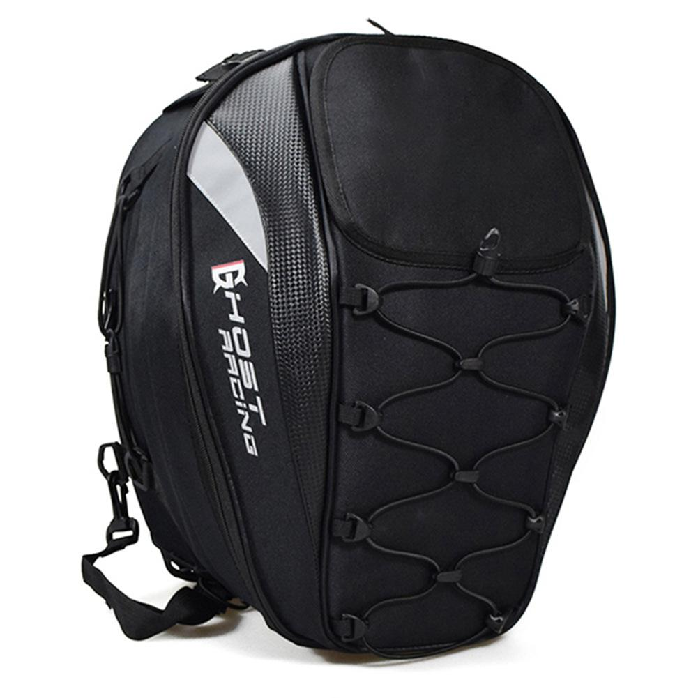 Motorcycle Tail Bag Racing Rear Seat Bag Motorcycle Helmet Backpack Locomotive Riding Multi Function Bag
