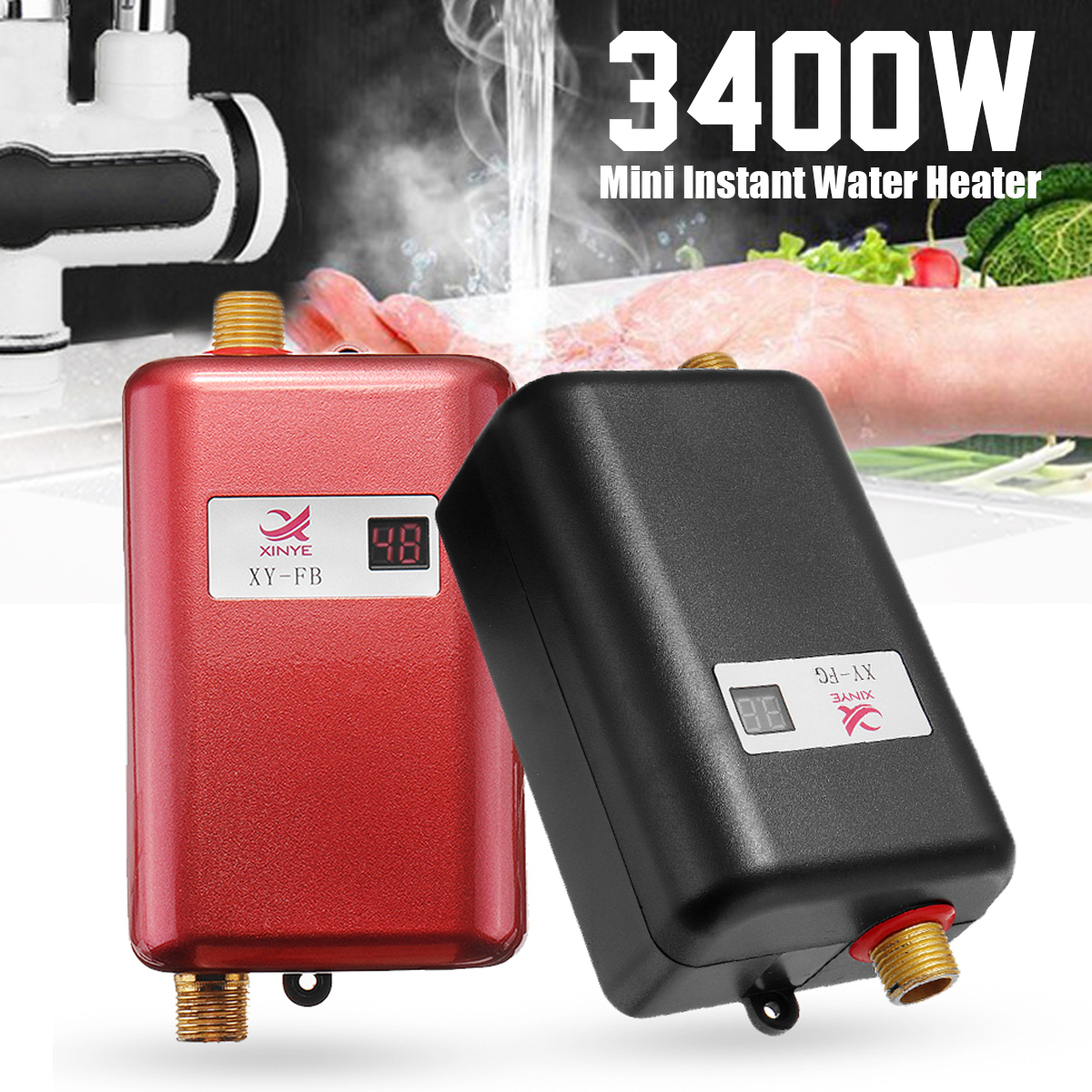 3400W Mini Electric Tankless Instant Hot Water Heat