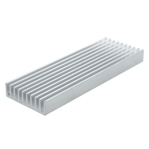 100 mm × 35 mm X 10 mm heat sink aluminum IC MOSFET SCR component silver(China)