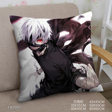 Japanese Anime Home Textile Two Sided Square Pillow Case Tokyo Ghoul Dakimakura Pillowcase Body Cover