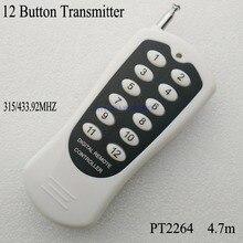 12CH/12 Buttons/Key RF Không Dây Điều Khiển Từ Xa/Đài Phát Thanh Điều Khiển/điều khiển Máy Phát cho 12V12CH nhận Chuyển Đổi 315/433 mhz