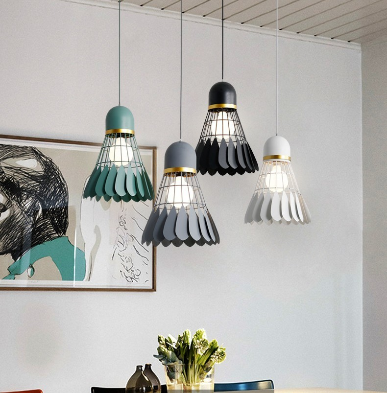 Badminton Chandelier Minimalist Modern Scandinavian Restaurant Lamp Dining Room Lamp Creative Personality Bar Study Bedroom LampBadminton Chandelier Minimalist Modern Scandinavian Restaurant Lamp Dining Room Lamp Creative Personality Bar Study Bedroom Lamp