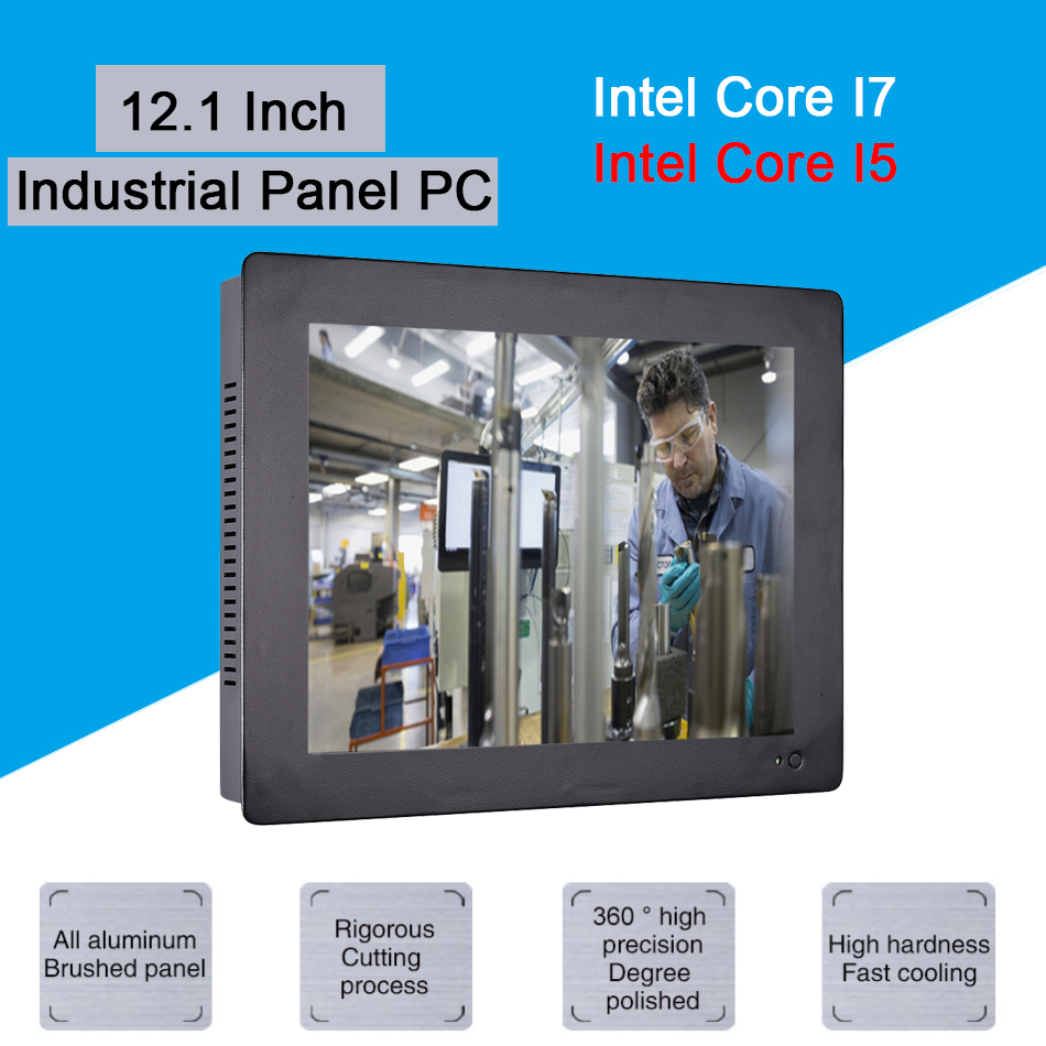 12.1 Inch Industrial Touch Panel PC,4 Wires Resistive Touch Screen,Intel Core I5 3317U,Wins 7/10,Linux,[HUNSN DA12W]