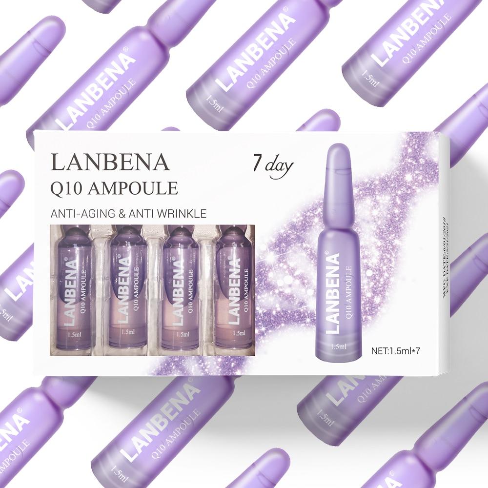 Lanbena Q10 Ampoule Serum Anti-aging Lifting Firming Moisturizing Nourishing Anti-wrinkle Treatment Fine Lines Beauty For 7 Days