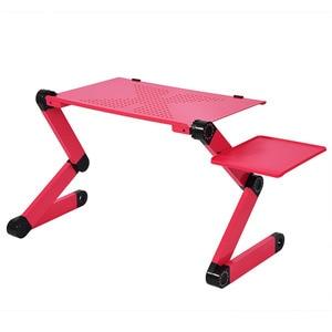 Image 4 - 360 degrés réglable bureau dordinateur portable bureaux dordinateur pliable support bureau Table plateau lit support de souris