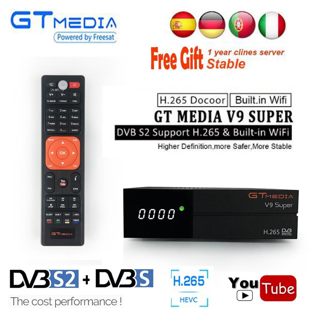 Digital Tv Box DVB-S2//S Receptor Wifi Cline Satellite Receiver GTMedia V9 Super