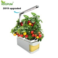 Smart Flowerpot Gardening Self watering Pots Indoor Planter Plant Nursery Pot Hydroponic Growing System With LED Grow Light