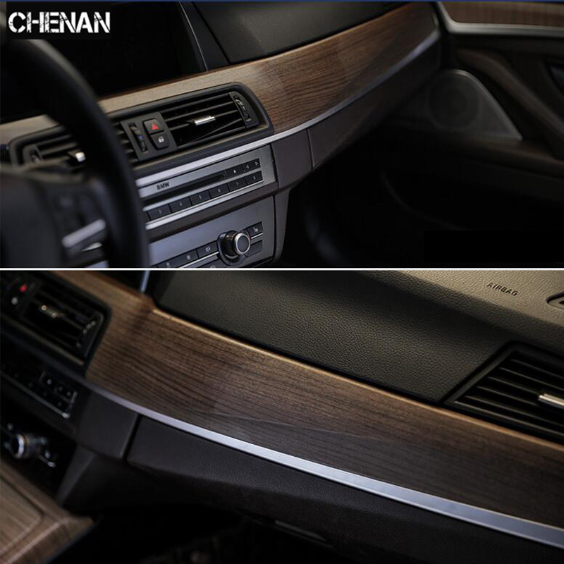 Car-Styling 30*200cm Wood Textured Grain Vinyl Wrap Decals Adhesive Glossy Wood Grain PVC Vinyl Film Car Interior Stickers